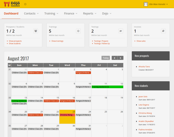Image of Dojo Manager's Dashboard